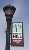 Lowry Hill District Streetpole Sign