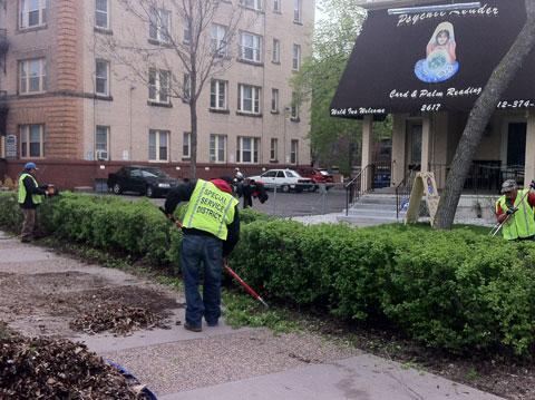 Service District Crews Performing Landscape Maintenance